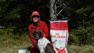 Prøvens beste hund Anita Dreng og C-Hanna.
